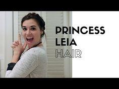 Princess Leia Hair Tutorial You Princess Leia Cosplay, Braided Hairstyles, Hair Makeup, Braids, Lightsaber, Hair Styles, Youtube, Beauty, Beautiful