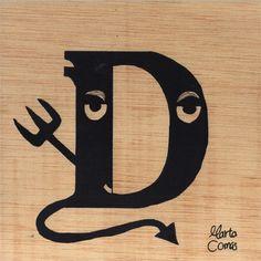 D: Devil ( Dimoni / Demonio) Devil, Alphabet, Spanish, Symbols, Letters, Ink, Alpha Bet, Spanish Language, Letter