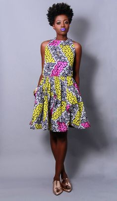 Demesticks  NY African print  style dresses ciaafrique ,african print dresses ,african fashion, african dress styles,kitenge designs , afric...