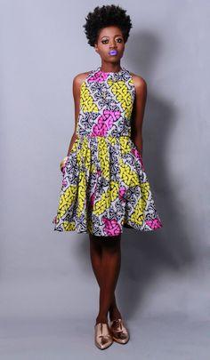 Demesticks  NY African print  style dresses ciaafrique ,african print dresses ,african fashion, african dress styles,kitenge designs , afric...