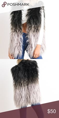 HP 10/9 & 10/10 🎉 •furry vest • the fuzzy ombre vest is SO CUTE to pair with any fall outfit to sprice it up • price firm Jackets & Coats Vests