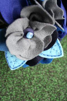 felt bouquet detail