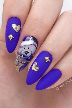 Nails Design: Night Entertainment for 42 Festive and Bright Nail Art Ideas For New 2019 – Page 42 of 42 – eeasyknitting. com nail art; Spring Nail Art, Nail Designs Spring, Spring Nails, Summer Nails, Beautiful Nail Designs, Cool Nail Designs, Acrylic Nail Designs, Acrylic Nails, Nail Art Noel