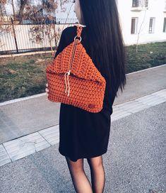 Новый рюкзак из полиэфирного шнура Цвет: теракотовый ✋ ✋ ручная работа 15 000 тг ✋ в своем роде он второй, один только у меня серого цвета Фасон и цвет идеален на весну ✋ возможен заказ любого цвета . . . #вязаныесумки #сумкиалматы #полиэфирныйшнур #полиэфирныйшнуралматы #ручнаяработаалматы #sabiart #sabi_handmade #art #sabi #s #a #вязаныесумкиалматы