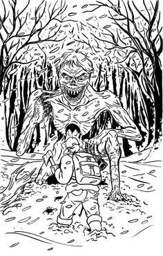 Fan art for Patrick Rutigliano's WIND CHILL novella.