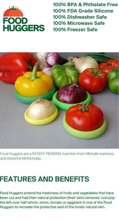 Love these!!!  Food Huggers by Food Huggers (Michelle Ivankovic) — Kickstarter http://www.kickstarter.com/projects/1055691335/food-huggers