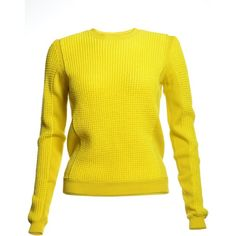 Mesh Knit Panel Jumper in Yellow ($125) ❤ liked on Polyvore featuring tops, sweaters, knit tops, knit sweater, yellow sweater, summer sweaters and summer tops
