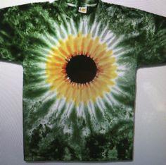 Sunflower tie dye