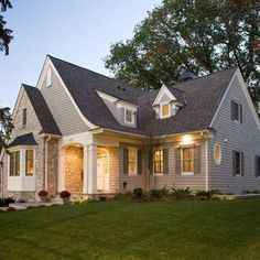 """Benjamin Moor Grey Horse cedar shingle and Azac white trim. I would like to use a lighter shade roof and not sure what color to go for. Thank you."""""""