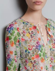 PRINTED BLOUSE - Shirts - Woman - ZARA United States