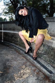 Fotografía Modelos Habana. Yadira: Atardecer en el parque. Héctor Falagán De Cabo | hfilms & photography. La Habana, Cuba.