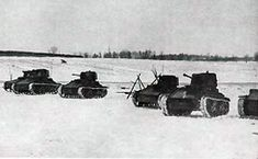 Latvian Vickers tanks on exercise probably late 1930