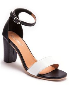 Two-Tone Leather Sandals Home Shopping