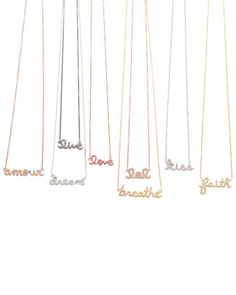 The Words Necklaces by Sydney Evan at Neiman Marcus.