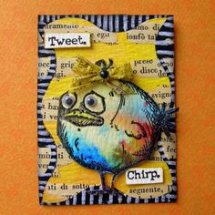Bird Crazy Atc Brusho