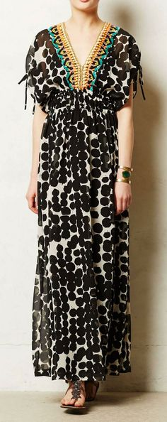 Anthropologie  Vine Beaded Maxi Dress