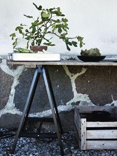 Interieur   Bureau en tafels op Schragen - www.stijlvolstyling.com