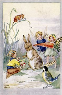 Rene Cloke Postcard The Rabbit's Birthday