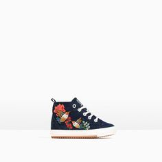 EMBROIDERED HIGH-TOP SNEAKERS WITH ZIP