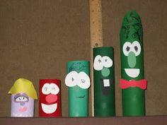 Make your own Veggie friends!  @Carol Casolaro Bauman - we need to throw a Veggie Tales theme party! :)