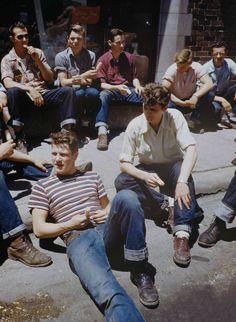 Jeans + t-shirt rayé