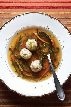 Markklösschensuppe (Beef Marrow Dumpling Soup)