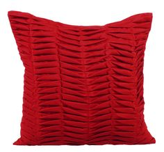 Red Throw Pillows for Bed 16x16 Pillow Covers by TheHomeCentric