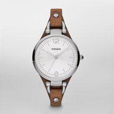 Fossil Georgia Leather Watch – Tan