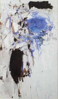 Joan Mitchell - Untitled, 1975, oil on canvas, 76 ¾ x 44 ¾ in, Private collection source : https://www.phillips.com