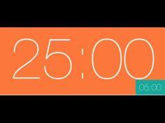 Pomodoro 25min, 5min (4 task, 2 hour) - YouTube