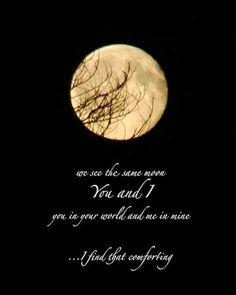 43 best La luna nos une aun estando lejos... mirando la misma luna ...