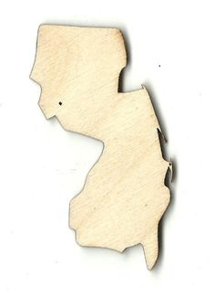 New Jersey Unfinished Laser Cut Wood Shape