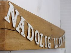 Nadolig Llawen garland (white) £15.00