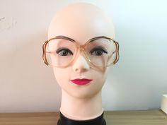 Hipster Glasses, Oversized Glasses, Vintage Frames, Prescription Lenses, Look Chic, Tortoise Shell, Eyeglasses, Gold, Etsy