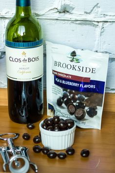 Enter to win a chocolate and wine gift basket with Brookside Chocolate and Clos du Bois wine! #giveaway #ad