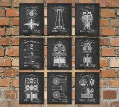 Tesla Patent Prints  Nikola Tesla Engineering от QuantumPrints