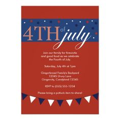 Freedom fireworks fourth of july party invitations july 4th freedom fireworks fourth of july party invitations july 4th invitations pinterest party invitations stopboris Images