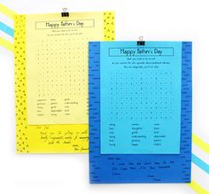 Tell Papa Bear how special he is with these easy to make and playable printable puzzle Cards Printable Puzzles, Free Printables, Diy Craft Projects, Diy Crafts, Mother And Father, Happy Fathers Day, Birthdays, Cards, How To Make