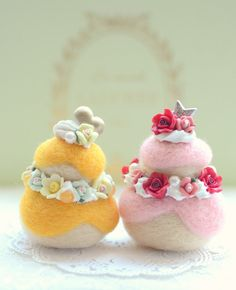 Needle felted cake home decor ornament soft