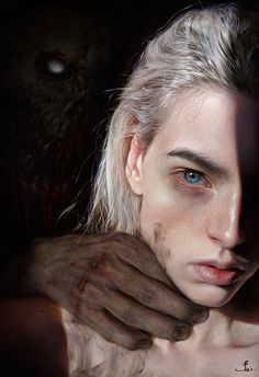 ArtStation - pepel, Elena Sai You are in the right place about asian fantasy art Here we offer you t Arte Horror, Horror Art, Dark Fantasy Art, Dark Art, Portrait Art, Portrait Photography, Art Sketches, Art Drawings, Kreative Portraits