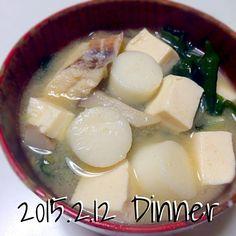 :::Thursday::: あったまるぅ〜(๑ˇεˇ๑) - 7件のもぐもぐ - べろべろ餅入りお味噌汁 by kt0iruj