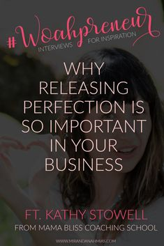 Woahpreneur Why Releasing Perfection is So Important in Your Business (with Kathy Stowell) // Miranda Nahmias & Co. Done-for-You Digital Marketing — Clients Business Marketing, Email Marketing, Affiliate Marketing, Social Media Marketing, Digital Marketing, Marketing Strategies, Marketing Ideas, Content Marketing, Internet Marketing