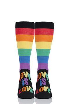 8e97b321cfaad SockShop Bamboo 1 Pair Pride Rainbow Love is Love Socks - Love is Love 13-