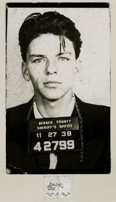 Frank Sinatra mugshot - motorcitybail.com/ #MotorCityBailBonds #BailBondsDetroit