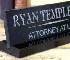 Desk Name Plate Solid Granite Office Desk Sign Customized