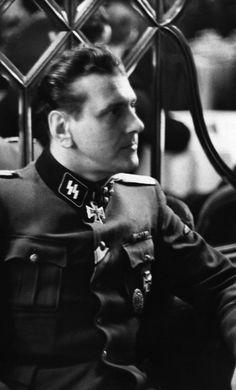 "5sswiking: ""SS-Sturmbannführer Otto Skorzeny watching a cabaret at the Berlin nightclub Atlantis in late of 1943. """