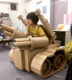 So very awesome: Amazon Cardboard Box Sculptures Cardboard Sculptures Cardboard Art Cardboard Box Art Monami Ohno