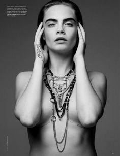 Cara Delevingne's gorgeous black and white spread for LOVE Magazine