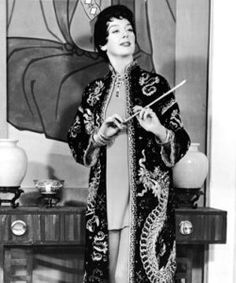 Rosalind Russell as Auntie Mame, 1958. Costume designed by Orry Kelly (1897-1964).