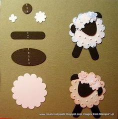 sheep crafts | via melissastampinforfun.blogspot.com